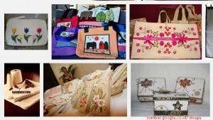 Jual kerajinan kain blacu, tas blacu murah dan grosir di Jakarta